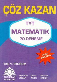 Çöz Kazan Yayınları YKS 1. Oturum TYT Matematik 20 Deneme