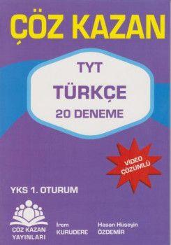 Çöz Kazan Yayınları YKS 1. Oturum TYT Türkçe 20 Deneme