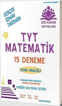 Çöz Kazan Yayınları TYT Matematik 15 li Tamamı Video Çözümlü Denemeleri