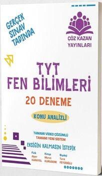 Çöz Kazan Yayınları TYT Fen Bilimleri 20 li Tamamı Video Çözümlü Denemeleri