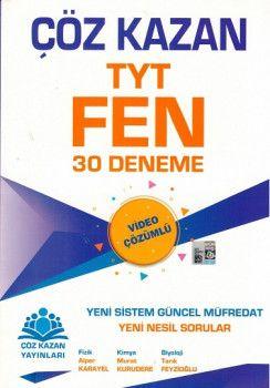 Çöz Kazan Yayınları TYT Fen Bilimleri 30 Deneme