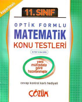 Çözüm 11. Sınıf Matematik Optik Formlu Konu Testi