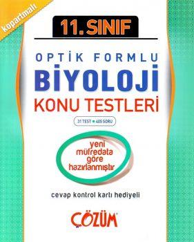 Çözüm 11. Sınıf Biyoloji Optik Formlu Konu Testi