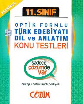 Çözüm 11. Sınıf Türk Edebiyatı Dil ve Anlatım Optik Formlu Konu Testleri