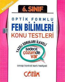 Çözüm 6. Sınıf Fen Bilimleri Optik Formlu Konu Testleri