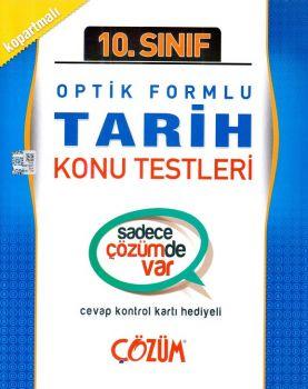 Çözüm Yayınları 10. Sınıf Tarih Optik Formlu Konu Testleri