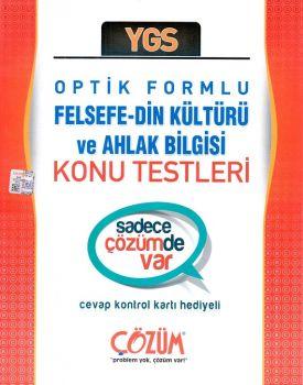 Çözüm Yayınları YGS Felsefe - Din Kültürü ve Ahlak Bilgisi Optik Formlu Konu Testleri