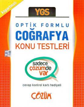 Çözüm Yayınları YGS Coğrafya Optik Formlu Konu Testleri