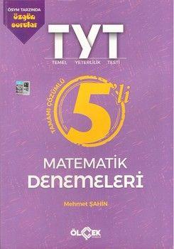 Ölçek Yayınları TYT Matematik 5 li Tamamı Çözümlü Denemeleri