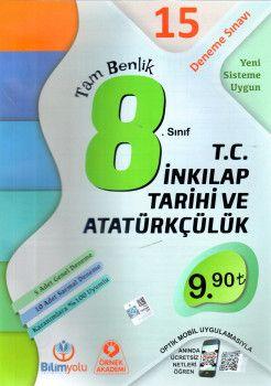 Örnek Akademi 8. Sınıf Tam Benlik T.C. İnkılap Tarihi ve Atatürkçülük 15 Deneme Sınavı Optikli