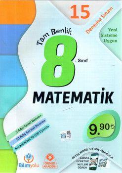 Örnek Akademi 8. Sınıf Tam Benlik Matematik 15 Deneme Sınavı Optikli