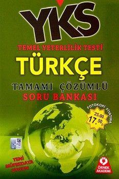 Örnek Akademi TYT Türkçe Tamamı Çözümlü Soru Bankası