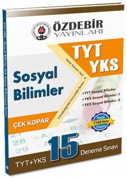Özdebir Yayınları YKS 1. Oturum TYT Sosyal Bilimler Çek Kopar 15 Deneme Sınavı