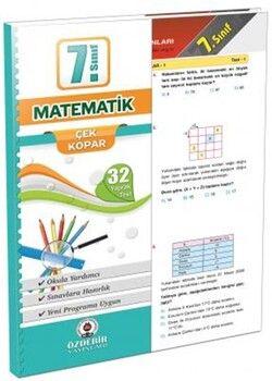 Özdebir Yayınları 7. Sınıf Matematik Yaprak Test