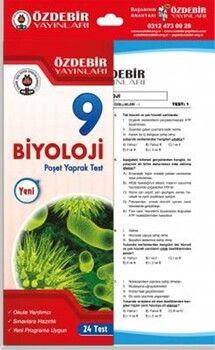 Özdebir Yayınları9. Sınıf Biyoloji Yaprak Test