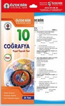 Özdebir Yayınları10. Sınıf Coğrafya Yaprak Test