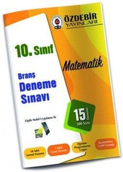 Özdebir Yayınları10. Sınıf Matematik Branş Deneme Sınavı