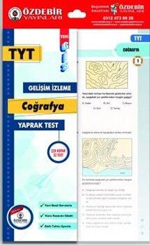 Özdebir YayınlarıTYT Coğrafya GİS Yaprak Test