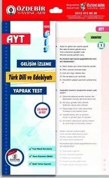 Özdebir Yayınları AYT Türk Dili ve Edebiyatı Gis Yaprak Test