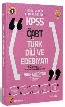 Özdil Akademi 2021 ÖABT Türk Dili ve Edebiyatı 1. Kitap Halk Edebiyatı Konu Anlatımlı