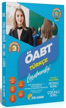 Özdil Akademi  ÖABT Türkçe 3. Kitap Yeni Türk Edebiyatı 1, Batı Edebiyatı Konu Anlatımlı Soru Bankası