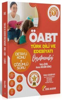 Özdil Akademi ÖABT Türk Dili ve Edebiyatı 1. Kitap Halk Edebiyatı Konu Anlatımlı Soru Bankası