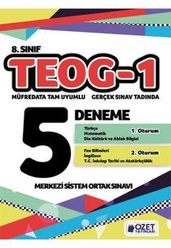 Özet Yayınları TEOG 1 Gerçek Sınav Tadında 5 Deneme