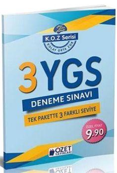 Özet Yayınları YGS 3 lü Deneme Sınavı Tek Pakette 3 Farklı Seviye