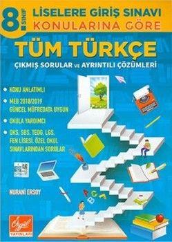 Özgül YayınlarıÖzgül Yayınları 8. Sınıf Türkçe Konularına Göre Tüm Çıkmış Sorular ve Çözümleri