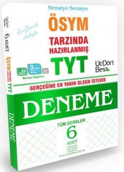 ÜçDörtBeş Yayınları YKS 1. Oturum TYT Tüm Dersler 6 Deneme