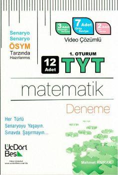 ÜçDörtBeş Yayınları YKS 1. Oturum TYT Matematik ÖSYM Tarzında Hazırlanmış 12 Deneme