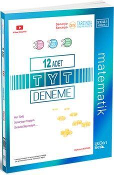 ÜçDörtBeş Yayınları 2021 Model TYT Matematik 12 li Deneme