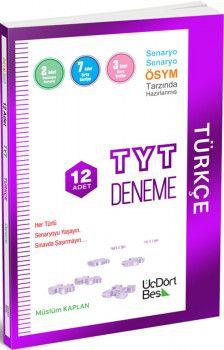 ÜçDörtBeş Yayınları TYT Türkçe 12 Adet Deneme