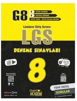 Üçgen Yayınları 8. Sınıf G8 LGS 8 li Deneme Sınavları