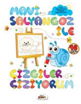 Ünlü Çocuk Yayınları Mavi Salyangoz İle Çizgiler Çiziyorum