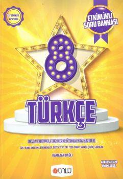 Ünlü Yayınları 8. Sınıf Türkçe Etkinlikli Soru Bankası