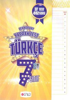 Ünlü Yayınları 7. Sınıf Türkçe Çek Kopart Yaprak Test