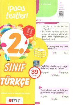 Ünlü Yayınları 2. Sınıf Türkçe 39 Çeşit İpucu Testleri