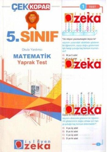 İşleyen Zeka 5. Sınıf Matematik Yaprak Test