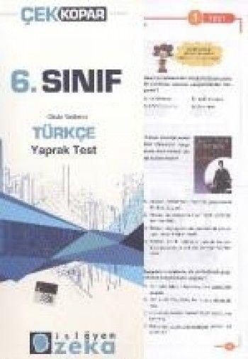 İşleyen Zeka 6. Sınıf Türkçe Çek Kopar Yaprak Test