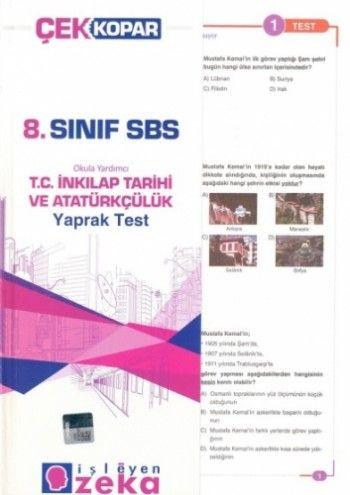 İşleyen Zeka 8. Sınf T.C. İnkilap Tarihi ve Atatürkçülük Yaprak Test