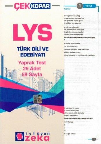 İşleyen Zeka LYS Türk Dili ve Edebiyatı Yaprak Test
