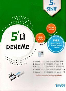 İşleyen Zeka Yayınları 5. Sınıf PYBS 5li Deneme