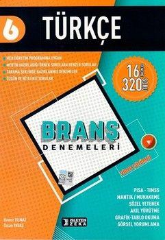 İşleyen Zeka Yayınları 6. Sınıf Türkçe Branş Denemeleri