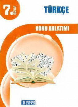 İşleyen Zeka Yayınları 7. Sınıf Türkçe Konu Anlatımlı