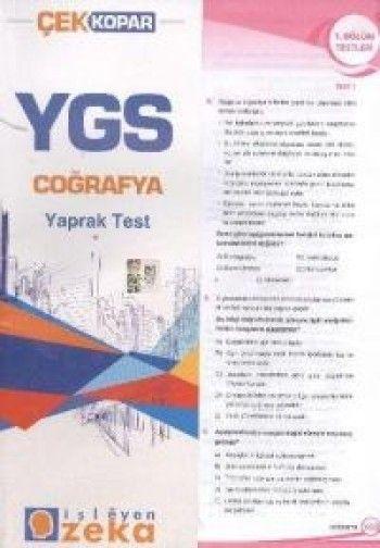 İşleyen Zeka YGS Coğrafya Yaprak Test
