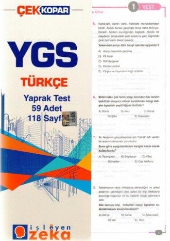 İşleyen Zeka YGS Türkçe Yaprak Test