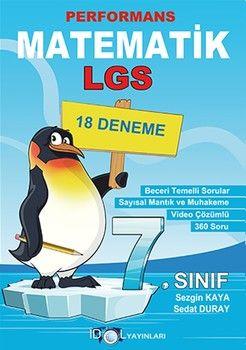 İdol Yayınları 7. Sınıf Matematik Performans 18 Deneme
