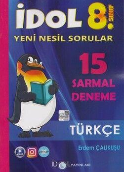 İdol Yayınları 8. Sınıf LGS Türkçe 15 Sarmal Deneme
