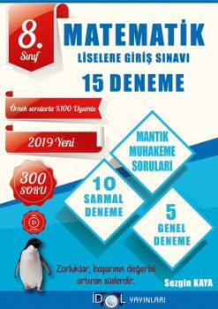 İdol Yayınları 8. Sınıf LGS Matematik 15 Deneme